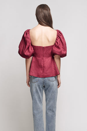 JOSLIN - Addison Line Top, Cherry Red - Style on Point
