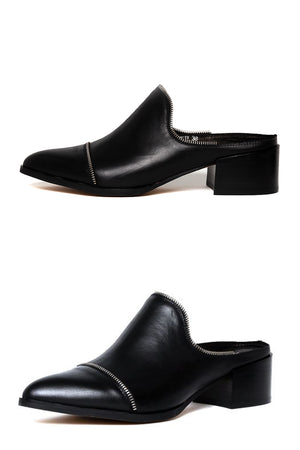 MOLLINI - Denzil Black Leather - Style on Point