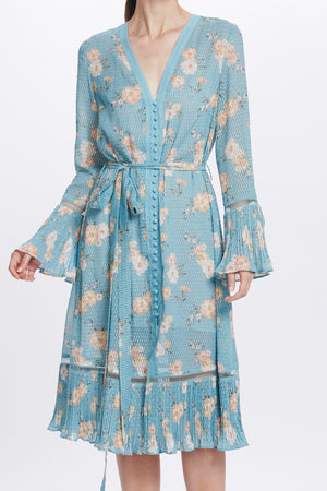 WE ARE KINDRED - Mia Shirtdress Teal Posey