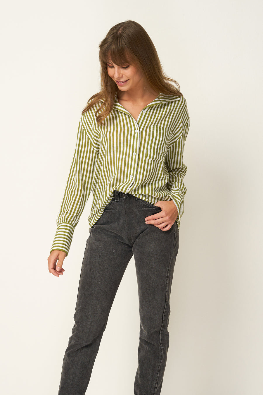 RUE STIIC - Fremont Shirt in Sage - Style on Point