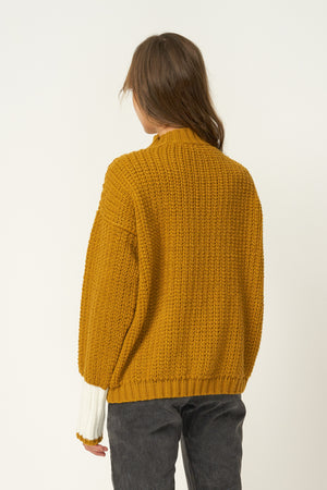 RUE STIIC - Sienna Knit Sweater in Gold - Style on Point