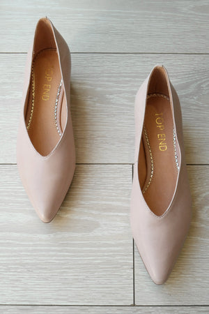 TOP END - SANAA PALE PINK LEATHER SHOES - Style on Point