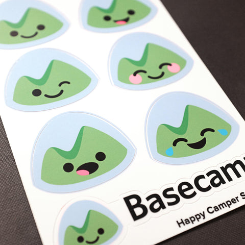 close up photo of the sticker sheet