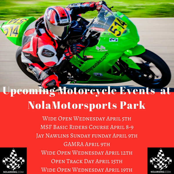 Preferred Access Information for Nola Motorsports Park