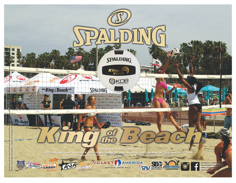 OFFICIAL BALL OF The 2017 AAU Tour Spalding King of the Beach volleyball