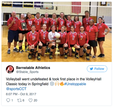 Barnstable Girls Volleyball 2017 VolleyHall Classic at AIC