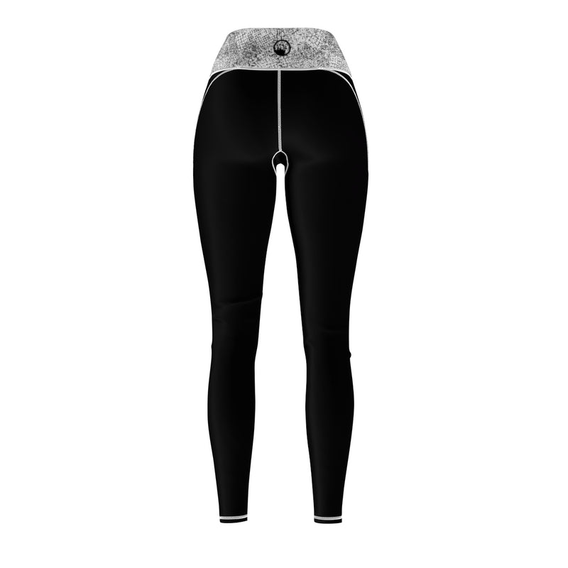 Queen Of The Beach® Women's Greyscale Circle Crown Sports Leggings