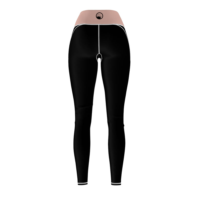 Queen Of The Beach® Women's Millennial Pink Circle Crown Sports Leggings