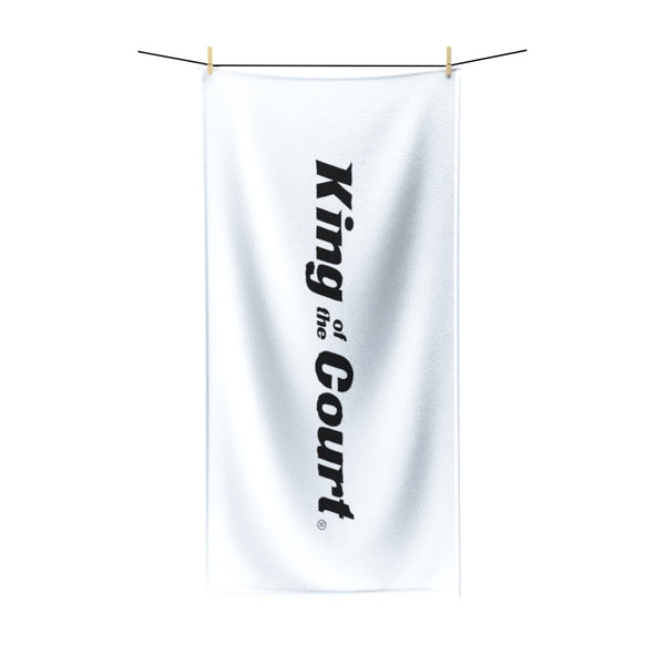 King Of The Court® White Beach Towel