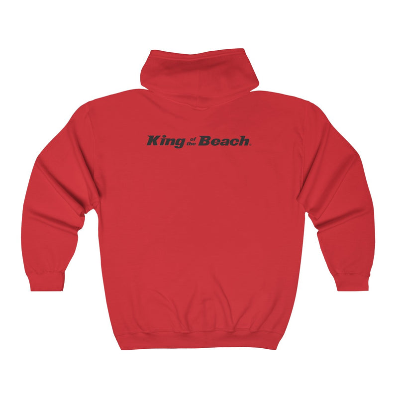 King Of The Beach™ Hermosa Beach Collection Unisex Full Zip Hoodie