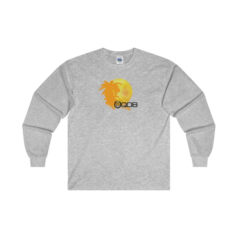 "QOB® Shield Logo ""Summer"" Boyfriend Long Sleeve Tee"