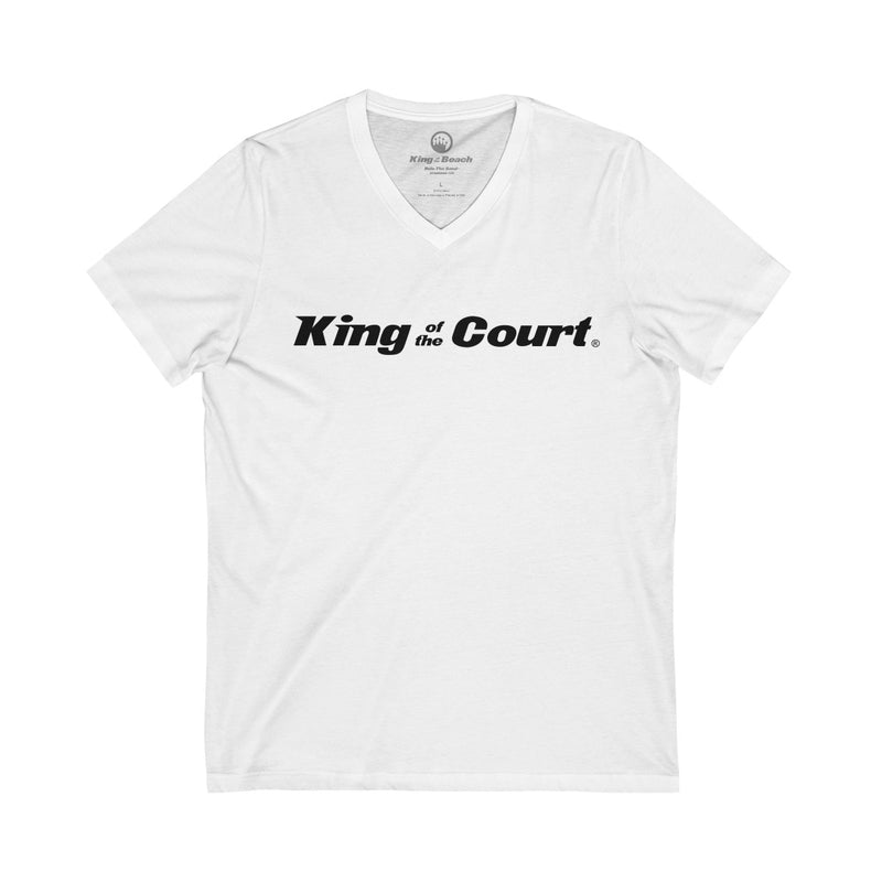 King of the Court® Unisex Jersey Short Sleeve V-Neck Tee