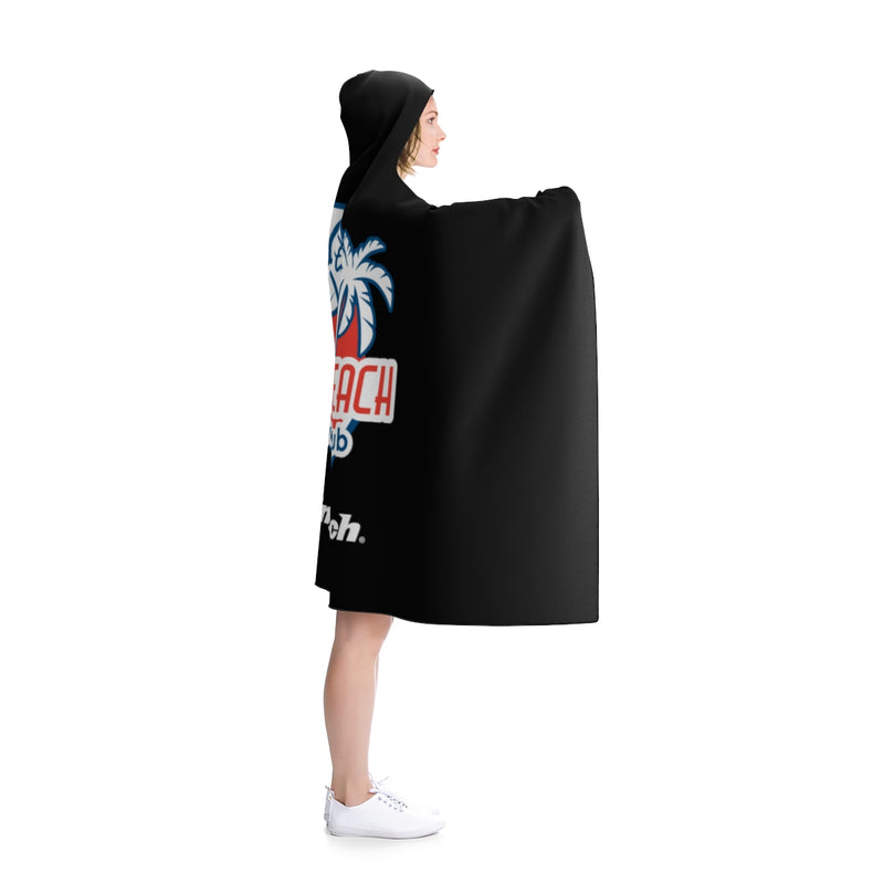 King of the Beach® Hermosa Beach Balck Hooded Blanket