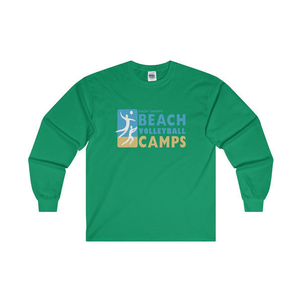 King Of The Beach™ Sinjin Smith's Beach Volleyball Camps Long Sleeve T-Shirt