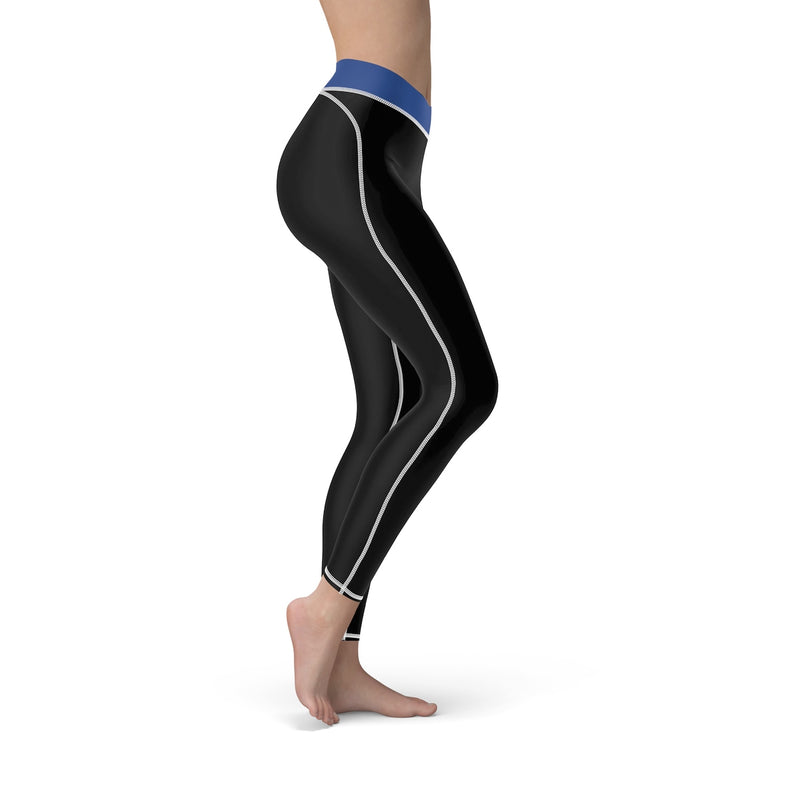 Queen Of The Beach® Women's Blue-Band Circle Crown Sports Leggings