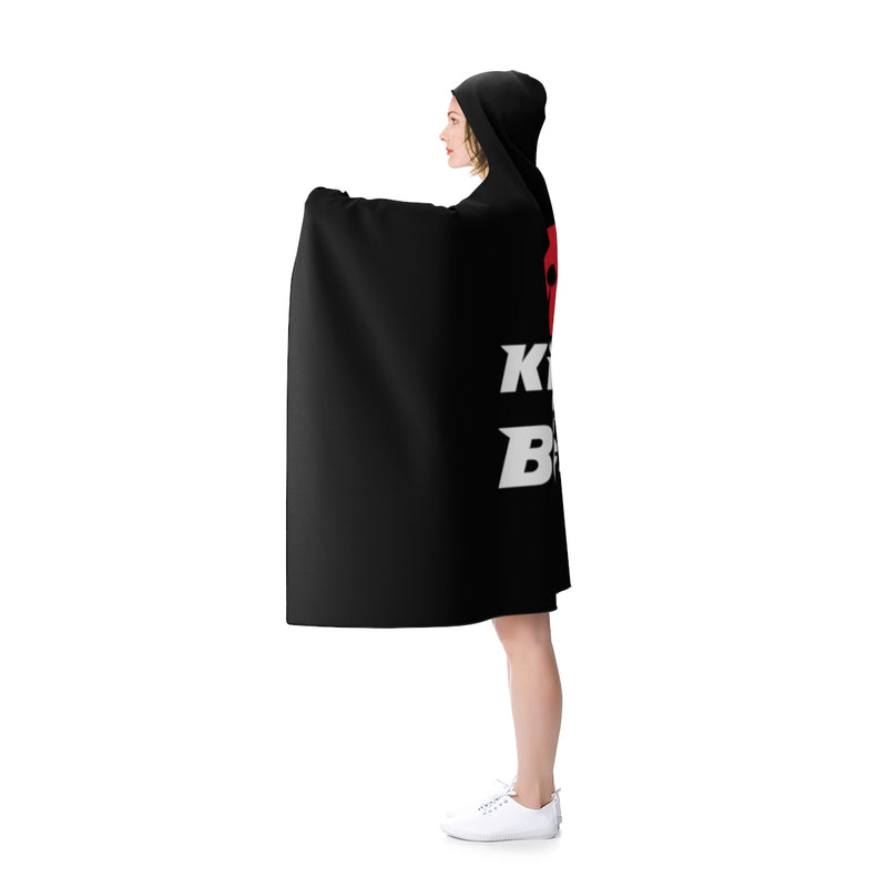 King of the Beach®  Red & White On Black Hooded Blanket