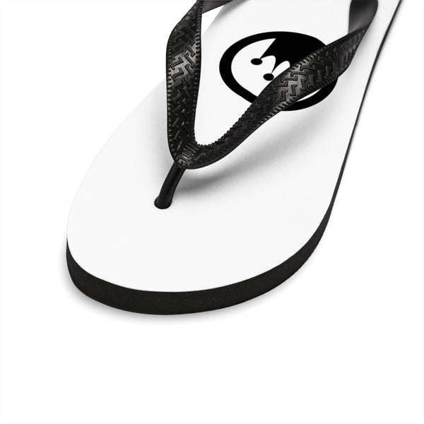 King Of The Beach® x Mikasa® Circle Crown White Unisex Flip-Flops