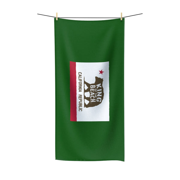 King Of The Beach® California Club Green Beach Towel