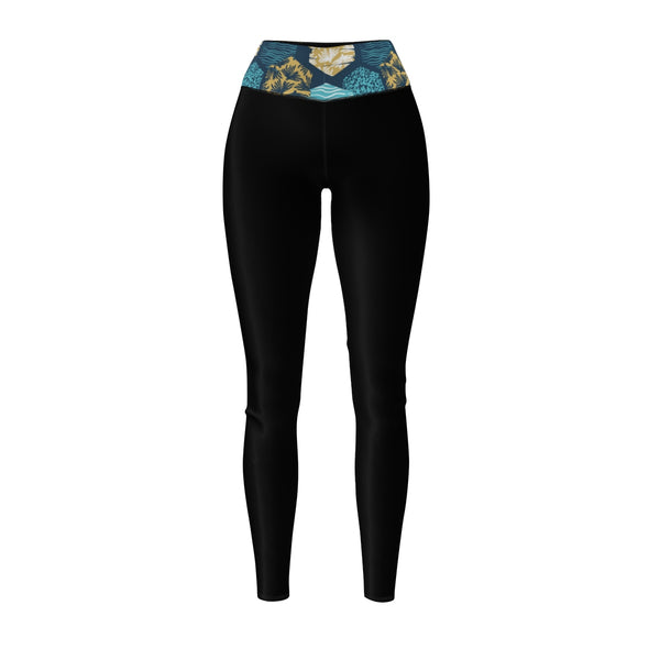 "Queen Of The Beach® Women's ""Surf"" Circle Crown Sports Leggings"