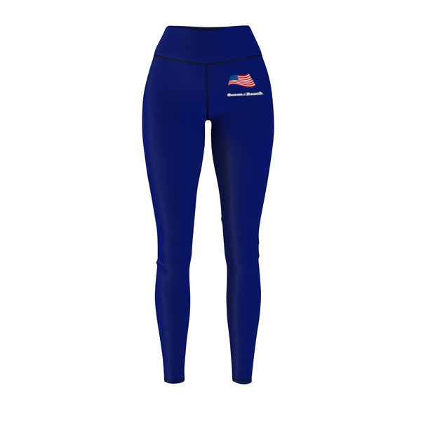 Queen Of The Beach™ Hermosa Beach Collection Navy Blue Women's Sport Leggings