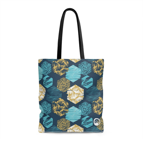"Queen of the Beach® Circle Crown ""Surf"" Tote"