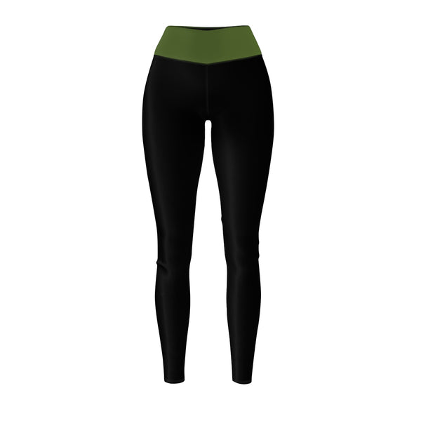 Queen Of The Beach® Women's Army Green-Band Circle Crown Sports Leggings