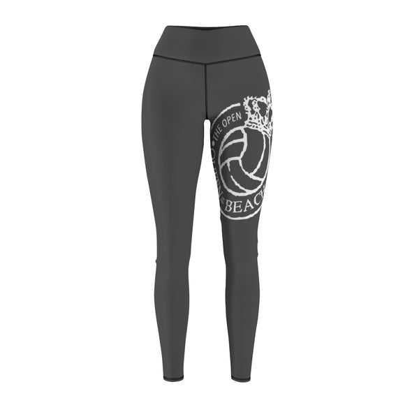 Queen Of The Beach® Old School Logo Women's Grey Tour Sport Leggings