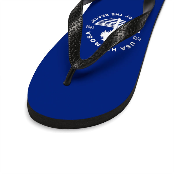 Queen Of The Beach™ Hermosa Beach Collection Classic Navy Blue Unisex Flip-Flops