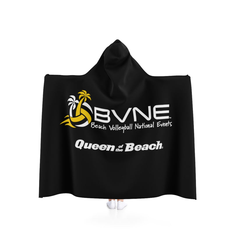 Queen of the Beach® BVNE Black Hooded Blanket