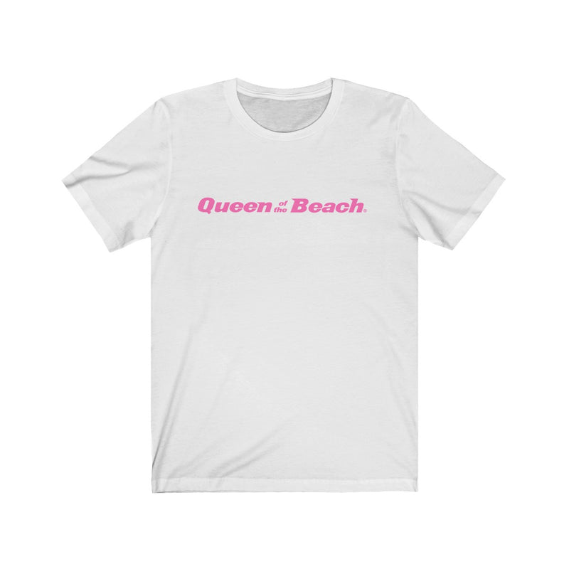 2019 Queen of the Beach® Signature Logo Neon Pink Tee