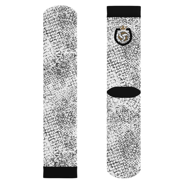 King Of The Beach® Crown Series Black & White Sublimation Socks