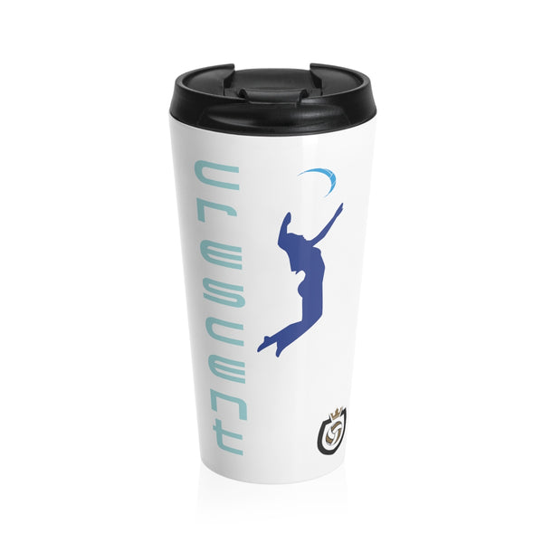 King Of The Beach™ Cresent Volleyball Collection Stainless Steel Travel Mug