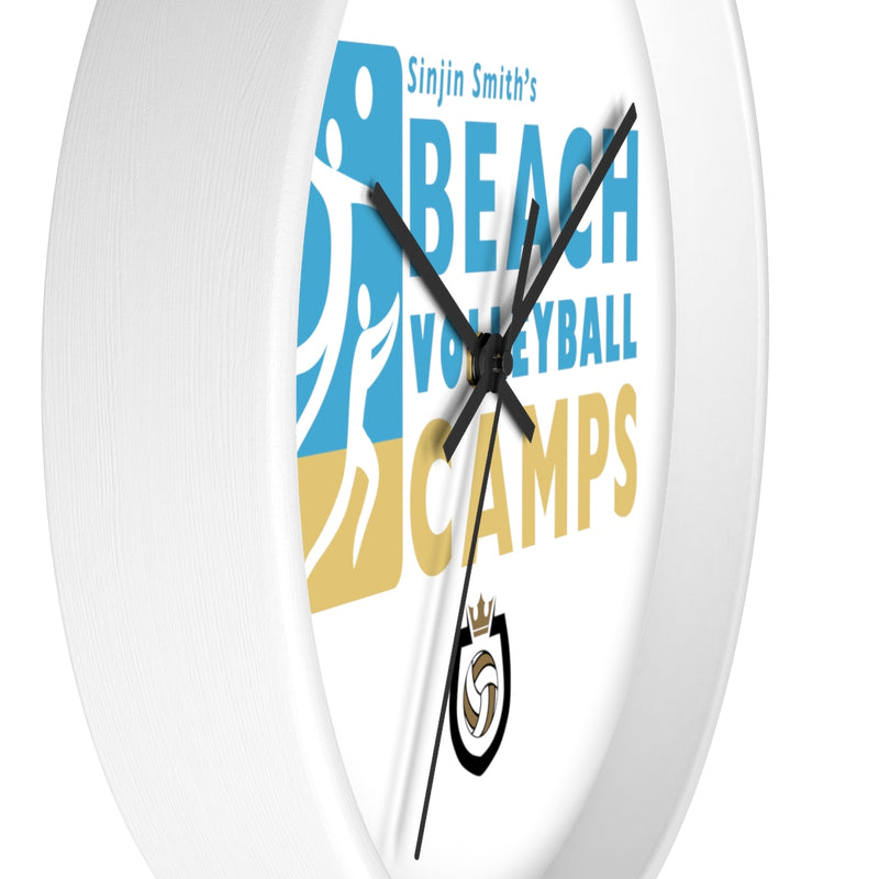 King Of The Beach™ Sinjin Smith's Beach Volleyball Camps Wall clock