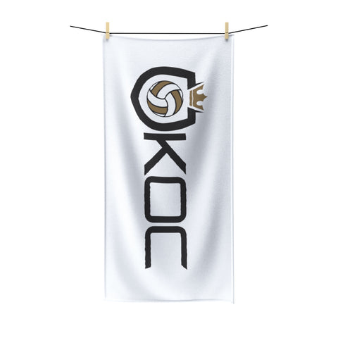 King Of The Court® Shield Logo Beach Towel