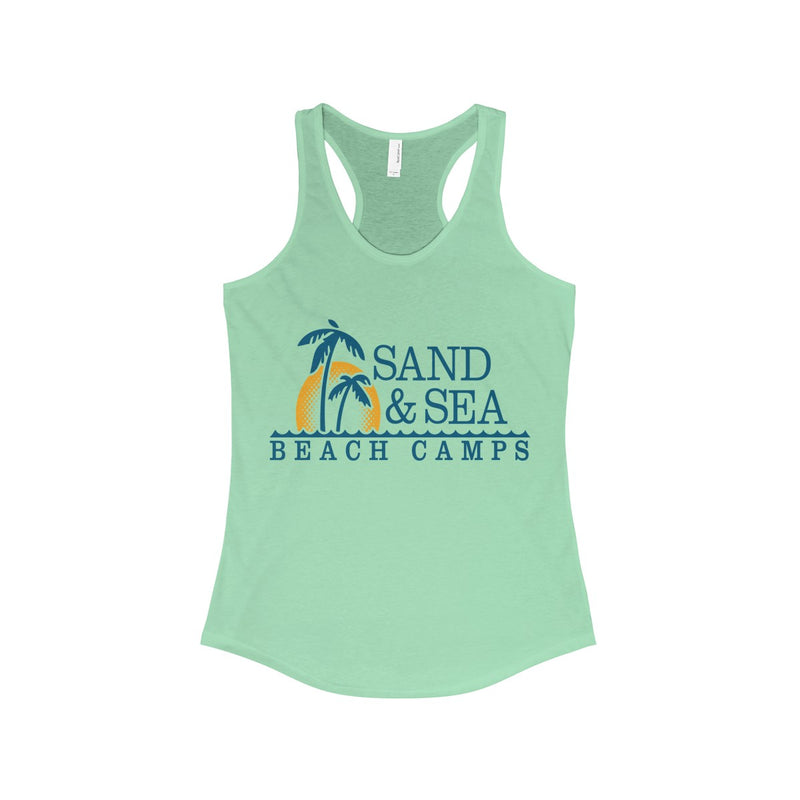 Queen Of The Beach™ Sand & Sea Beach Camps Collection Women's Racerback Tank