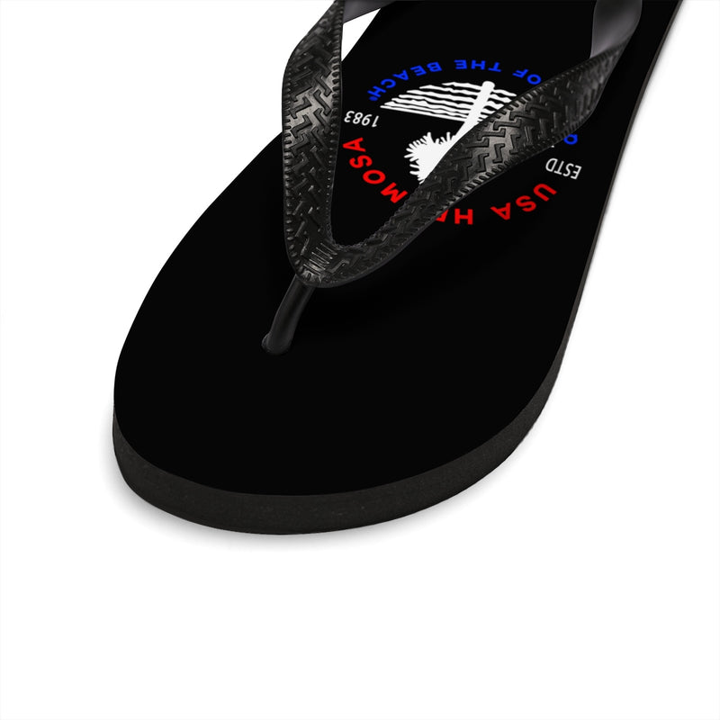 Queen Of The Beach™ Hermosa Beach Collection Classic Black Unisex Flip-Flops