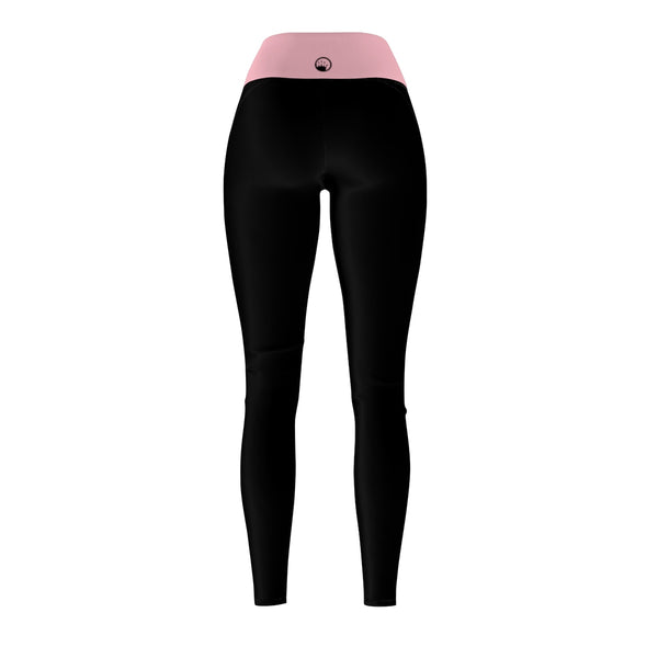 Queen Of The Beach® Women's Baby Pink-Band Circle Crown Sports Leggings