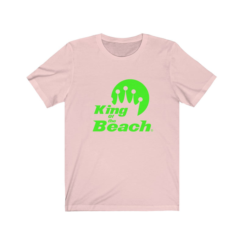 2019 King of the Beach® Stack Logo Neon Green Tee