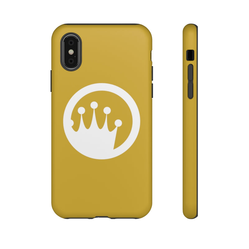 King of the Beach® White Circle Crown On Metallic Gold Tough Cases