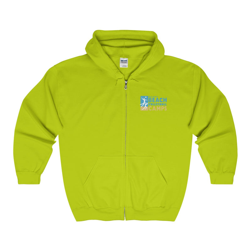 King Of The Beach™ Sinjin Smith's Beach Volleyball Camps Unisex Zip Hoodie