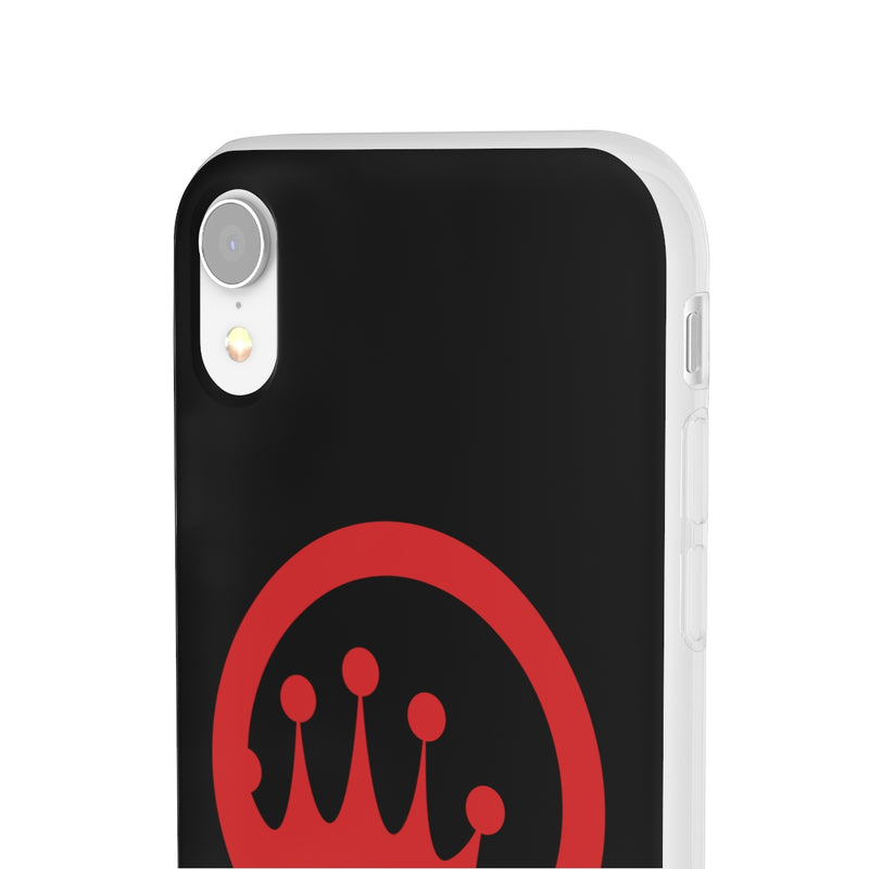 King of the Beach® Red Circle Crown On Black Flexi Cases