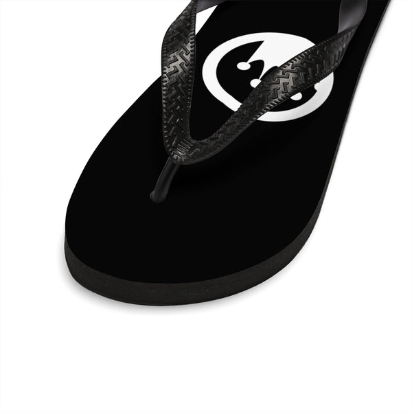 Queen Of The Beach® BVNE™ Collection Black Circle Crown Flip-Flops