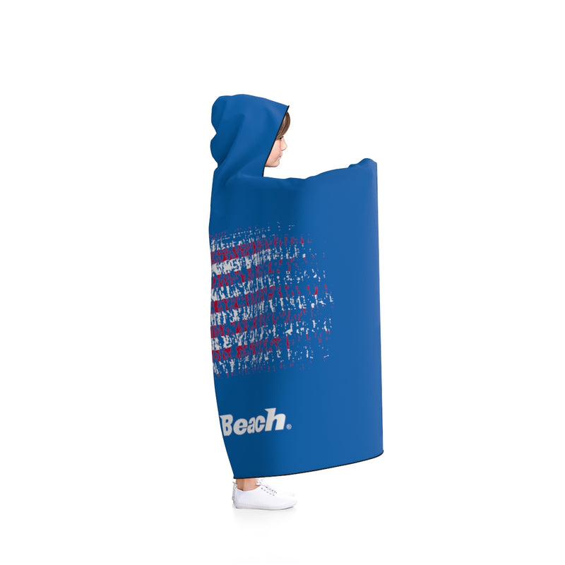 King of the Beach® USA Blue Hooded Blanket