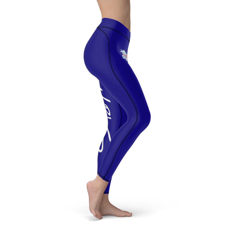 Queen of the Beach™ Hermosa Beach Collection Women's Blue Sport Leggings
