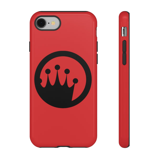 King of the Beach® Black Circle Crown On Red Tough Cases