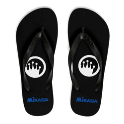 King Of The Beach® x Mikasa® Circle Crown Black Unisex Flip Flops