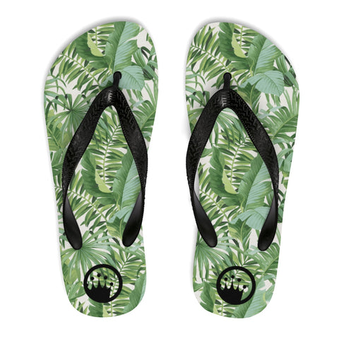"King of the Beach® Circle Crown ""Baja Palm"" Unisex Flip Flop"