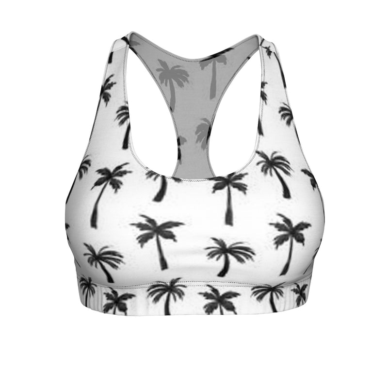 "Queen of the Beach® Circle Crown ""Cali Palm"" Sports Bra"