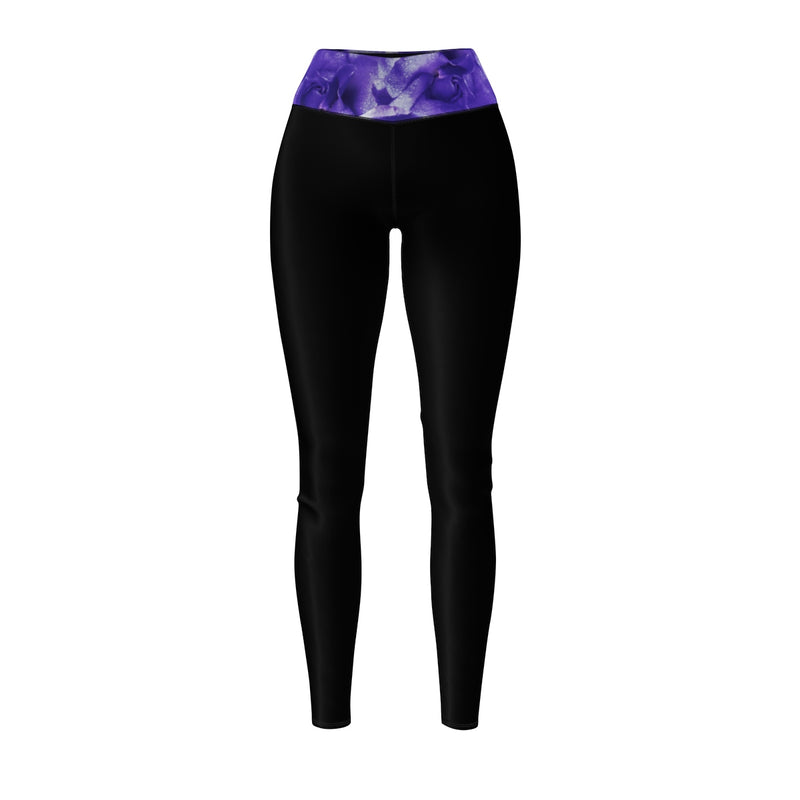 Queen Of The Beach® Women's Purple Flower Circle Crown Sports Leggings