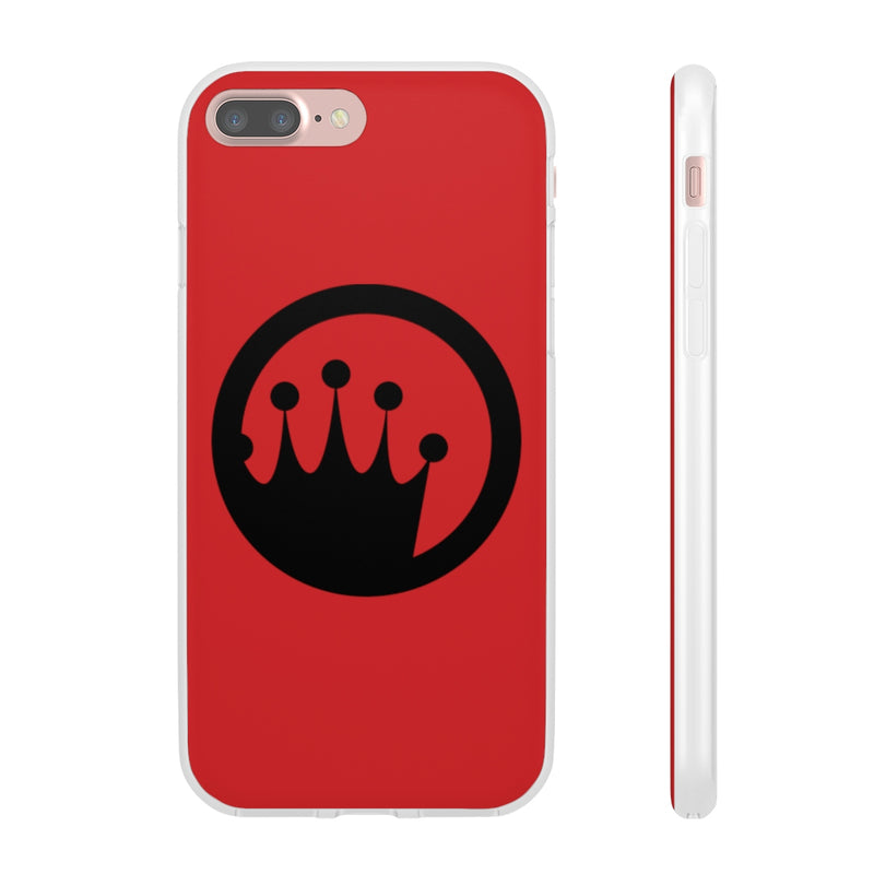 King of the Beach® Black Circle Crown On Red Flexi Cases